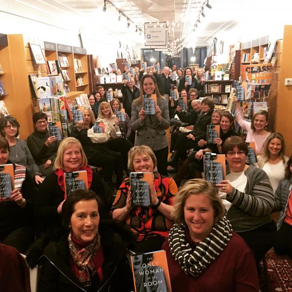 Marie Benedict and her fans celebrate the launch of her new book.