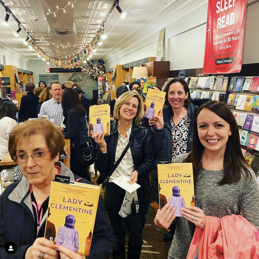 We had quite the crowd come to celebrate the launch of Marie Benedict's latest book, Lady Clementine!